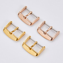 Button Metal Clasp 12-14 16-18 20-22mm Watch-Buckle-Accessory Wristband Electroplate