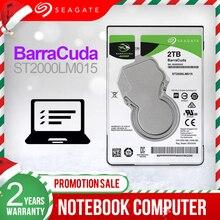"""Seagate 2TB 2.5 """"הפנימי HDD נייד דיסק קשיח כונן 7mm 5400 סל""""ד SATA3 6 Gb/s 128MB מטמון פנימי HDD עבור מחשב נייד ST2000LM015"""