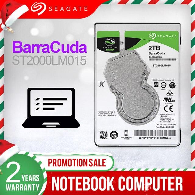 """Seagate 2TB 2.5 """"wewnętrzny dysk twardy Notebook napęd dysku twardego 7mm 5400RPM SATA3 6 Gb/s 128MB pamięci podręcznej wewnętrzny dysk twardy do laptopa ST2000LM015"""