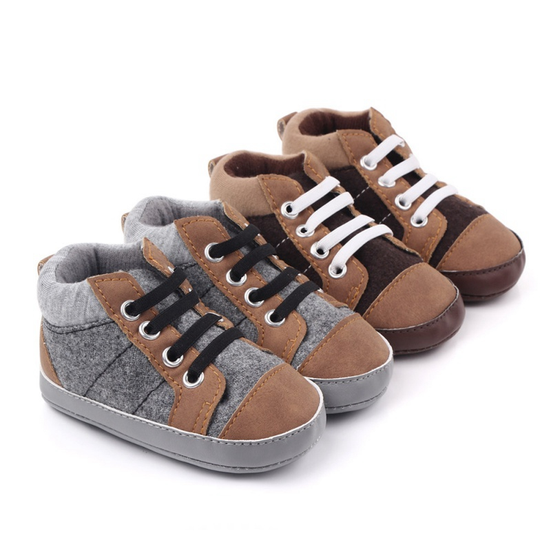 Autumn Fashion Baby Boys Girls Anti-Slip Sneakers Toddler Soft Soled Casual Canvas Shoes Newest