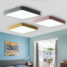 Modern minimalist LED tavan ışık basit yüzey gömülü uzaktan kumanda karartma tavan lambası mutfak oturma odası yatak odası saplama