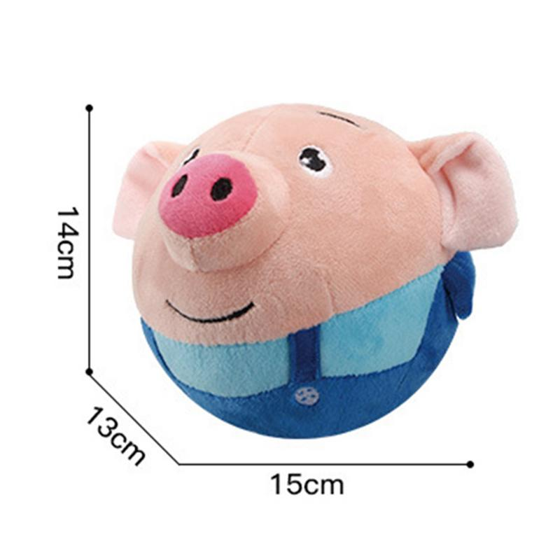 72 Songs Recordable Cartoon Seaweed Pig Doll Bouncing Ball USB Electric Plush Interaction Washable Beating Sing Jump Cute Toys in Electronic Pets from Toys Hobbies