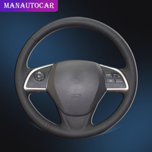 Car Braid On The Steering Wheel Cover for Mitsubishi Outlander 2013 2014 Mirage 2014 ASX L200 2015 2016 Auto Covers Car-styling накладка заднего бампера mitsubishi mz576692ex для mitsubishi asx 2016