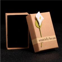 8*5cm Creative Jewelry Box Retro Kraft Gift Cardboard Boxes Manual Creation Packaging Decoration  Unique Birthday