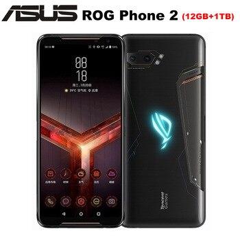 "NEW Asus ROG Phone II ZS660KL Mobile Phone 6.59"" 12GB ROM 1TB RAM Snapdragon855+ Dual SIM 6000mAh 48MP NFC Android9.0 ROG Phone2"