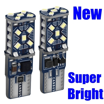 2 uds T10 W5W nuevas luces LED súper brillantes de aparcamiento de coche WY5W 168 501 2825 Auto Wedge Turn bombillas laterales Interior del coche lectura Domo lámpara