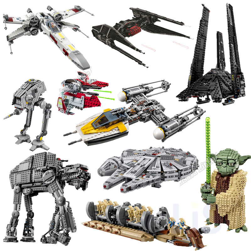 New Star Wars Y Wing Tie Fighter Figure Legoinglys Building Blocks Brick Toy For Children 75249 75255 75256