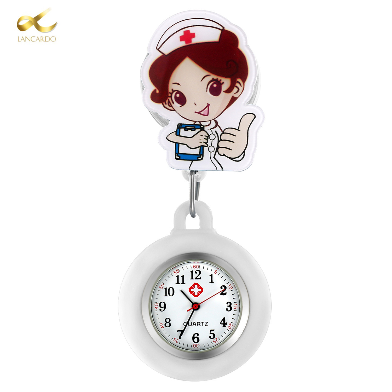 LANCARDO 2020 Perfect Gift Nurse Clip-on Fob Brooch Pendant Hanging Watch Pocket Watch Fashion Cute Nurse Doctor Wallet Watch