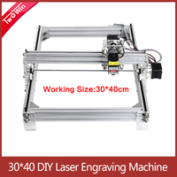 Working Area 40cmx30cm Laser Engraving Machine, 500mw/2500mw/5500mw Desktop Violet DIY Logo Mark Printer Cutter Carver Machine