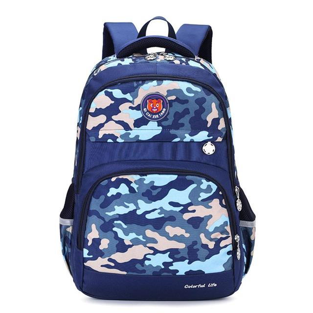 Caki Sweigo Preppy Style Backpack Camouflage Elementary Primary Schoolbag Daypack Knapsack Outdoor Travel Rucksack for Teens