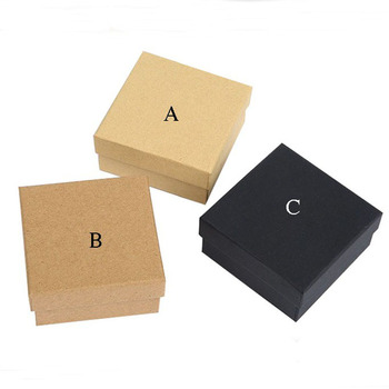 Box For Jewelry Free shipping wholesale 50pcs /lot 7*7*3cm Necklace Pendant Gift Packaging Boxes Square Ring Earring Box