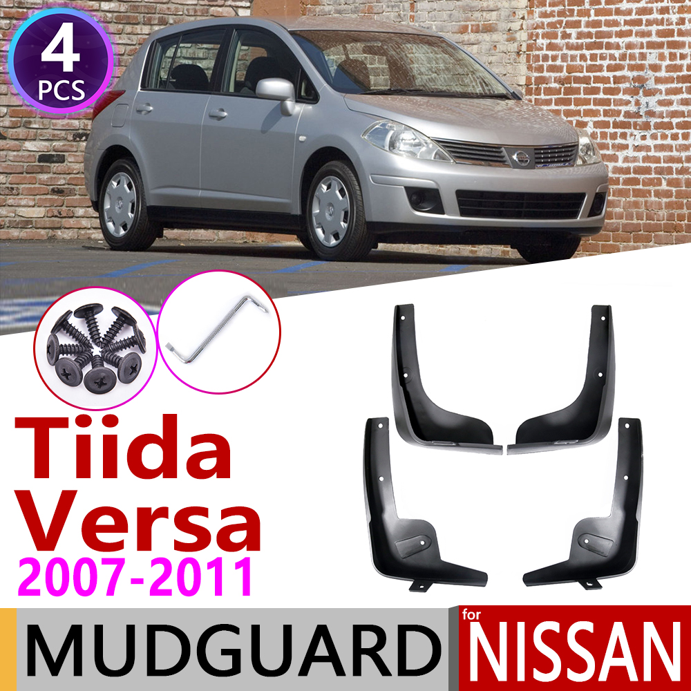 Mudguards For Nissan Tiida Versa Latio C11 2007~2011 Fender Mudguard Mud Flaps Guard Splash Flap Accessories 2008 2009 2010 2012