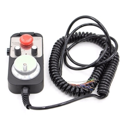 Universal Cnc 4 Achsen Mpg Anhänger Hand Rad 100 Puls 5V & Notfall Stop Cnc Router Handrad 4 Achse typ