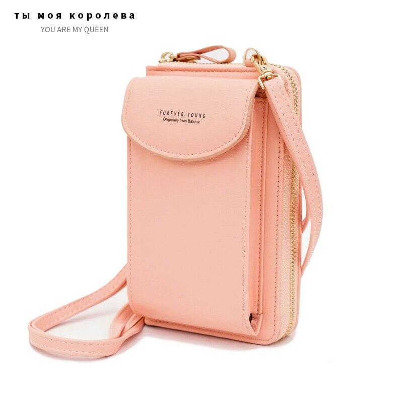 New Women Mini Small Handbag Female Long Purse Coin Cell PU Leather Phone Bags Lady Messenger Bag Clutch Crossbody Shoulder Bag