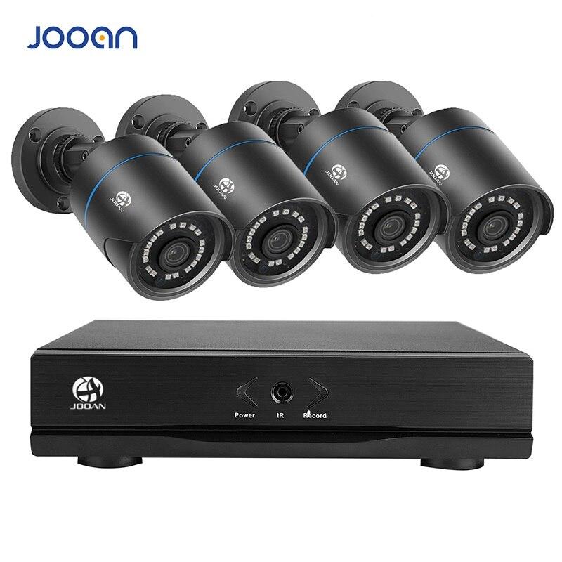 JOOAN 4CH CCTV System 4PCS 720P 1080P Outdoor Weatherproof Security Camera 1080N DVR Day/Night DIY Kit Video Surveillance System