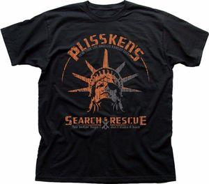 Ucieczka z nowego jorku wąż плисскена poszukiwania i ratownictwa czarny T-shirt tanie sprzedaż bawełna T koszula