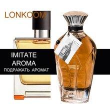 Lonkoom city series original especiado-amadeirado masculino perfume 100ml francês masculino perfumes eau de parfume para mulher fragrância desodorantes