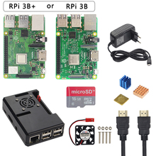 Raspberry Pi 3 Model B + Plus Starter Kit + Abs Case + 32 Gb Sd-kaart + 3A Power adapter + Cooling Fan + Heatsink + Hdmi Kabel