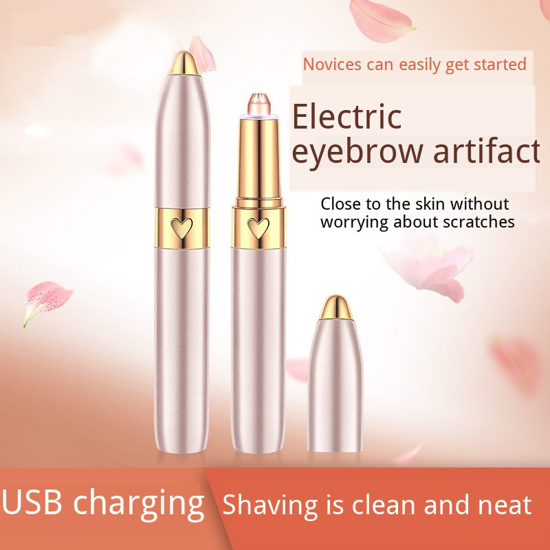 Electric Eyebrow Trimmer Pen Hair Remover Eyebrow Razor Multifunction Epilator Painless Eye Brow Trimmer Face Shaver USB Charge