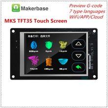Display de impressora 3d mks tft35 v1.0 tela sensível ao toque tft3.5 unidade lcd tft monitor cor cheia displayer tevo tarântula pro peças de atualização