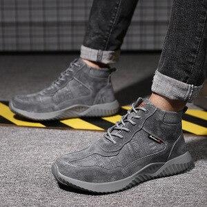 Image 4 - Stalen Neus Anti Smashing Mannen Veiligheid Schoenen Onverwoestbaar Anti Lek Werken Schoenen Man Veiligheid Alles In Een veiligheid Laarzen Schoenen
