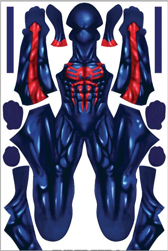 2099 Miguel O'Hara Spider-Man Cosplay Super Hero Spiderman Costumes Fullbody Zentai Suit Adult Man Jumpsuit Long Sleeve Rompers