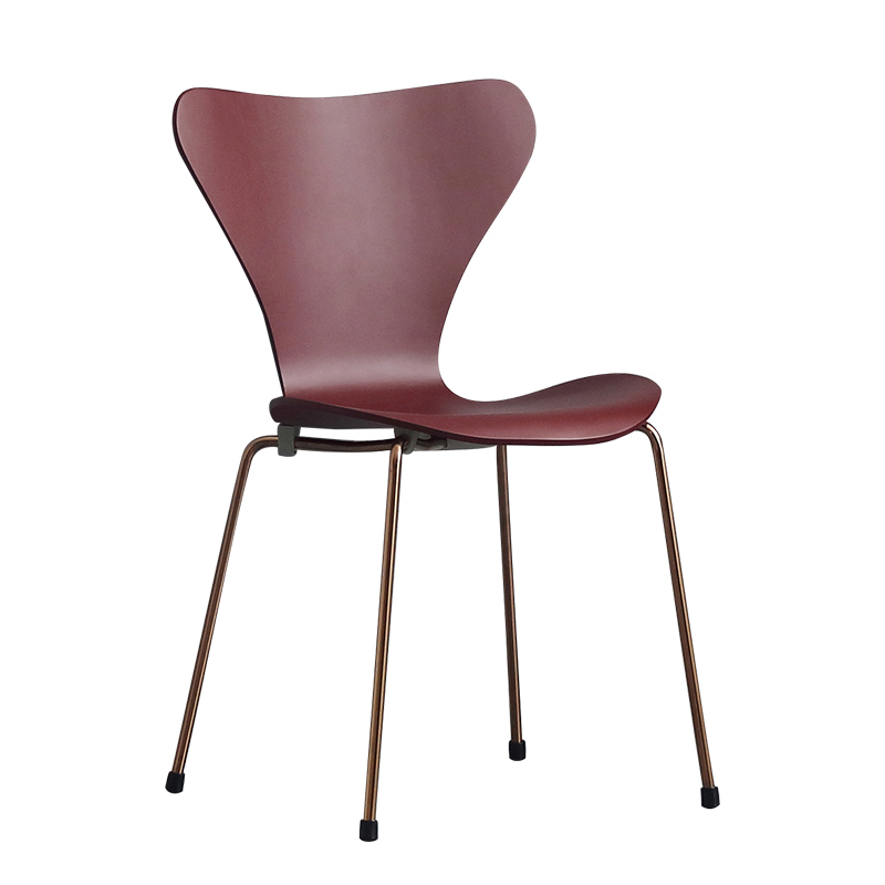 Nordic solid wood chair modern minimalist dining chair home No. 7 chair back ins net red makeup chair leisure ant chair