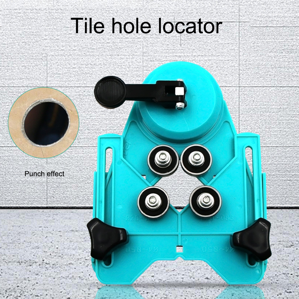 Marble Tile Hole Locator Glass Opening Locator Rubber Suction Cup Tile Punch Locator 4-83mm Hole Saw For Localizador Buraco