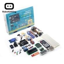 Kit de démarrage de projet UNO avec tutoriel, carte contrôleur UNO R3, Servo, moteur pas à pas, relais, etc. pour les projets Arduino 2019