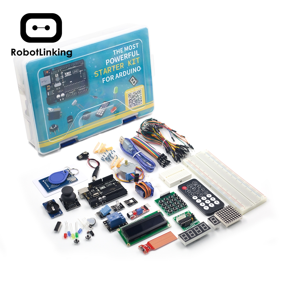 UNO Project Super Starter Kit with Tutorial, UNO R3 Controller Board, Servo, Stepper Motor, Relay etc. for Arduino Projects 2019-in Integrated Circuits from Electronic Components & Supplies