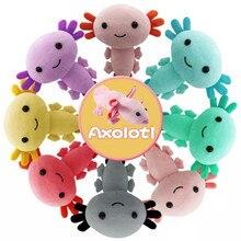 20cm Colorful Kawaii Axolotl Plush Toy Hot Sale Squishmallowing Axolotl Stuffed Animals Plushie Doll Baby Toys Room Decor Kids