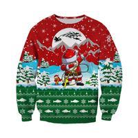 PLstar Cosmos Weihnachten 2020 Mode Harajuku Sweatshirt Angeln Kunst Santa Claus 3D Gedruckt Hoodies/Trainingsanzug Für Männer & Frauen