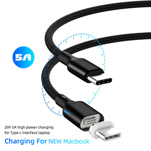Image 5 - 5A 100W Quick Charging Fast Charger Type C Cable for Samsung 1.8M Fast charging Type C To Type C Magnetic Cable for Huawei p20