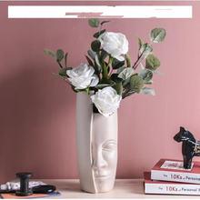 Европейская декоративная ваза с изображением лица керамический