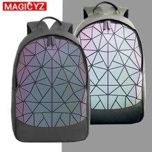 2020 جديد سعة كبيرة حقيبة سفر المرأة مضيئة الليزر Daypack بولي كلوريد الفينيل حقيبة ظهر مصنوعة من الجلد الإناث متوهجة على ظهره