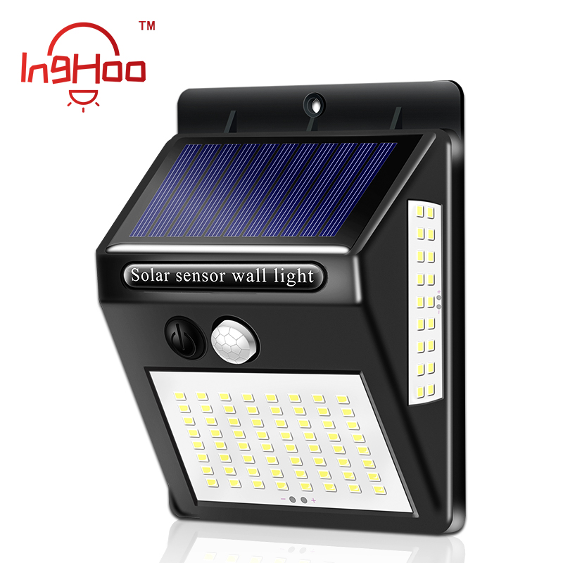 Inghoo Solar Lights Motion Sensor 100 LED Super Bright Lights Solar Outdoor Spotlight Flood Lighting For Backyard Garden