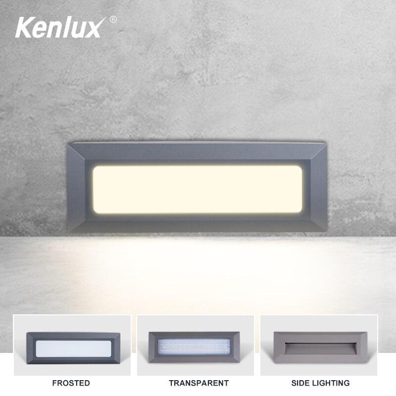 Kenlux 6W Led stair light hot sale step lights AC85-265V outdoor indoor waterproof fashion wall corner lamp Downward Foot light