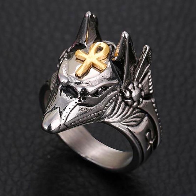 Мужское кольцо с волком HNSP, байкерское ювелирное изделие в стиле панк Anel 7-14, большой размер
