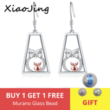 New Collection 100% 925 Sterling Silver Cute Owl Animal Drop Earrings With Clear CZ for Women Fine Jewelry free shipping 2019 цена и фото