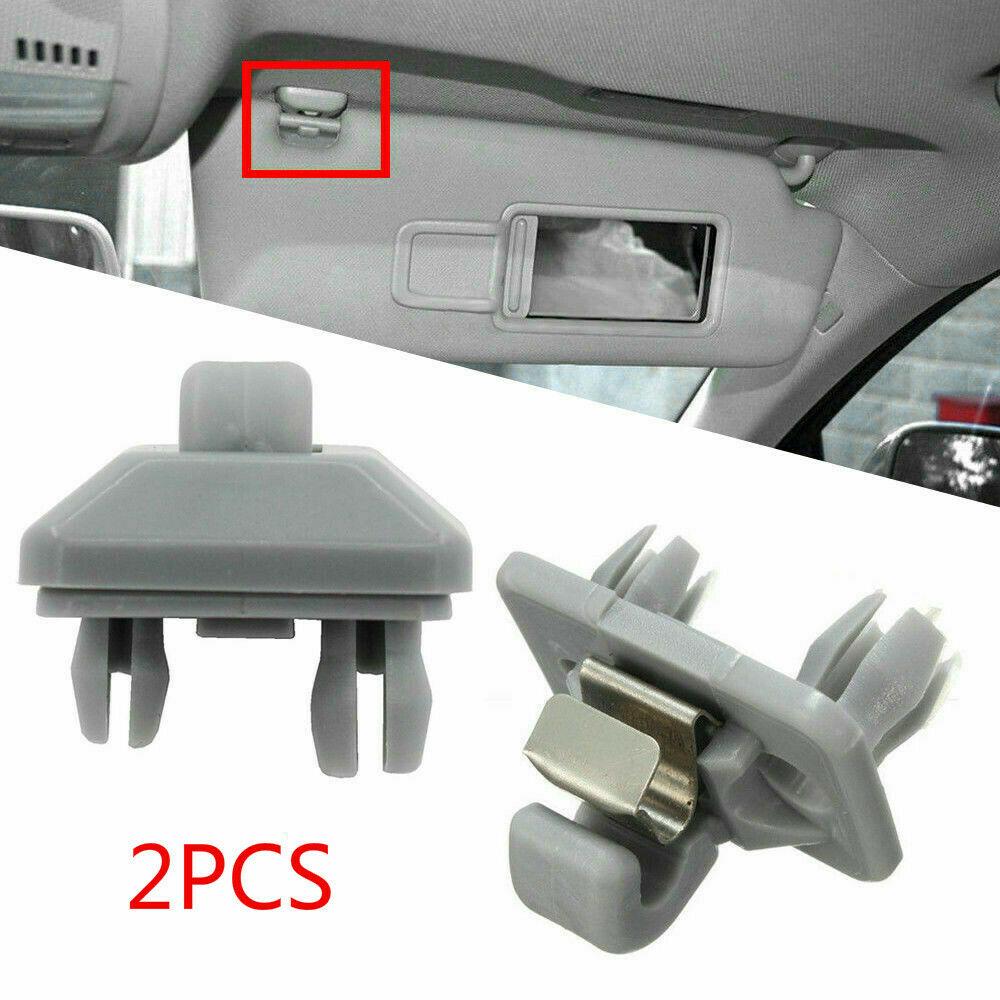 2Pcs Visiera di Sun Clip Porpor Booya Interior Sun Visor Gancio Della Clip Della Staffa per Audi A1 A3 A4 A5 Q3 q5 (8E0 857 562) a7 B6 B7 B8 S4 S5