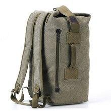 Plecak o dużej pojemności plecak podróżny dla mężczyzn plecak górski outdoor hiking bagaż płótno wiadro torba sportowa na ramię dla mężczyzn