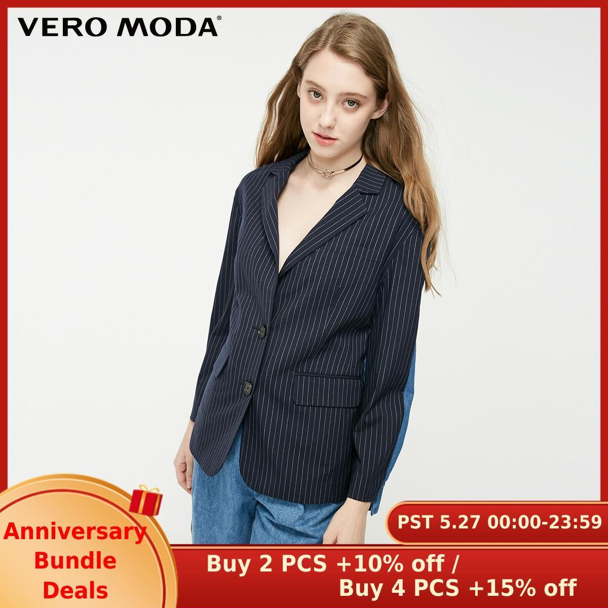 Vero Moda Women's Cotton Spliced Loose Fit Blazer   319155501