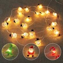 2 м Рождественская гирлянда светодиодный для спальни вечерние