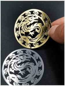 2 шт. металлический значок с драконом, хромированная наклейка с логотипом, Виниловая наклейка на сотовый телефон, наклейки для ноутбука, iphone,...