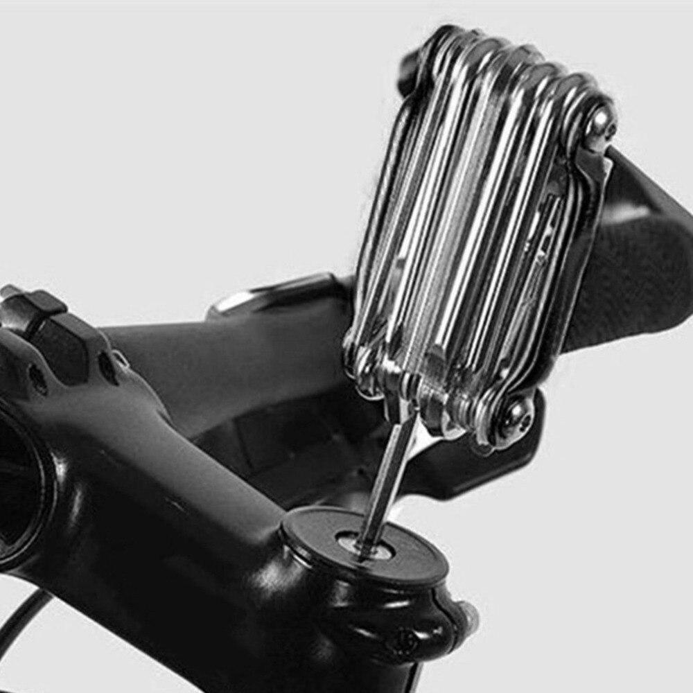 11-in-1 Bicycle Tools Sets Bike Multi Repair Kit Hex Spoke Wrench Screwdriver Carbon Steel Multifunctional Folding Multitools