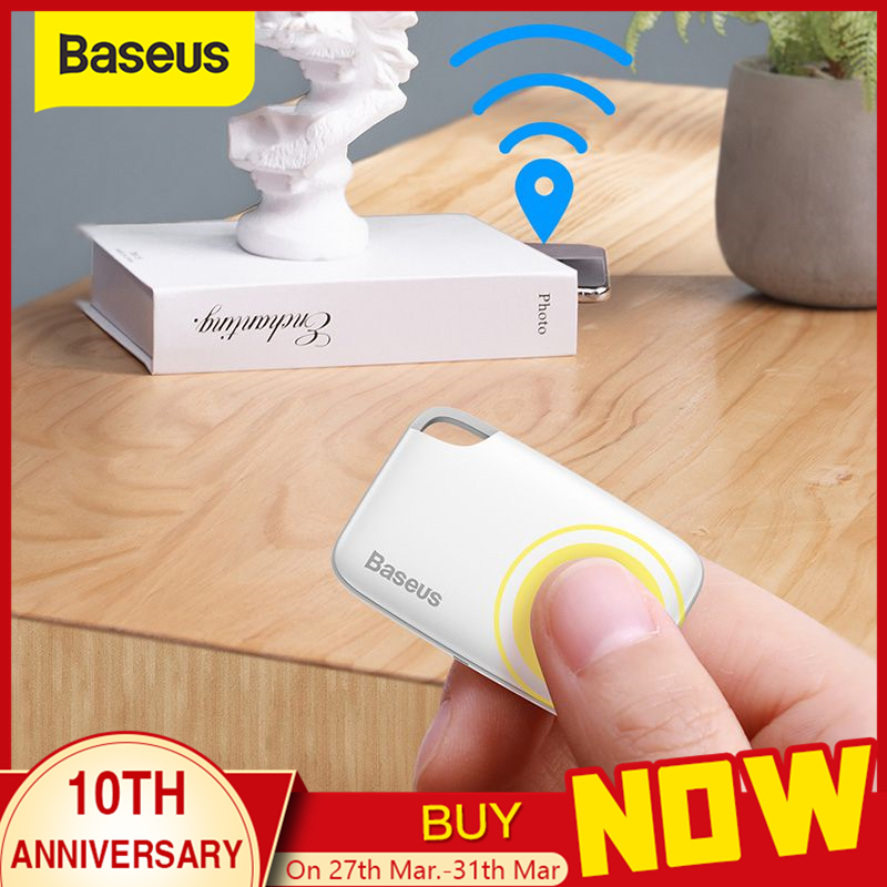 Baseus Draadloze Smart Tracker Anti-Verloren Alarm Tracker Key Finder Kind Tas Portemonnee Finder Gps Locator Anti Verloren Alarm tag 2 Types title=