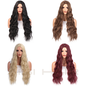 Image 3 - AISI HAIR  Long Wavy Blonde Wigs Black and Brown Natural Hair Heat Resistant Synthetic Wigs for Women African American