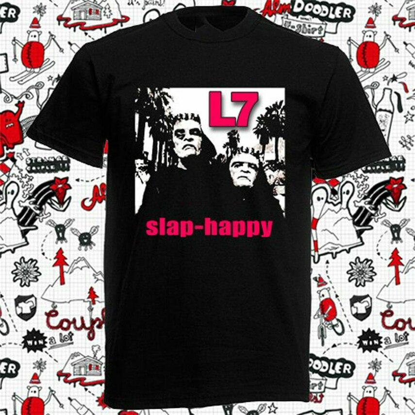 L7 BAND LOGO Mens Black Rock T-shirt NEW Sizes S-XXXL
