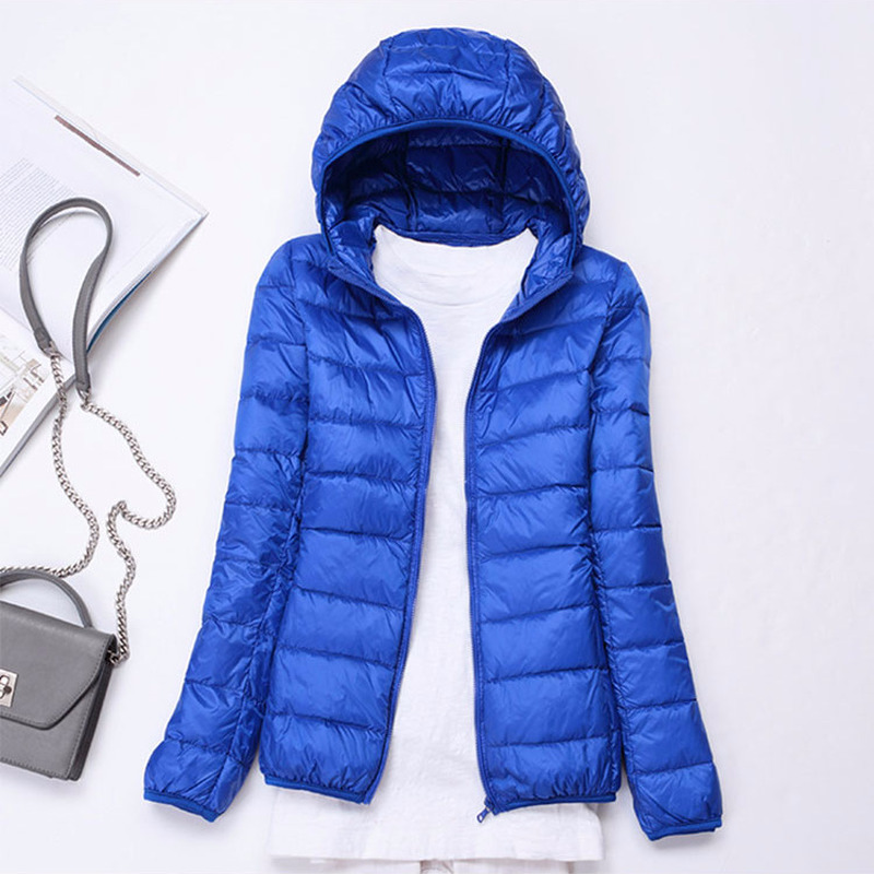 Winter Jacket Women 2020 Thin White Duck Down Jackets Autumn Ladies Hooded Coat Spring Tops Clothes Chaqueta Mujer LWL745