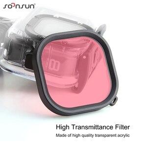 Image 2 - SOONSUN 3 Pack Filter Kit Rot Magenta Schnorchel Objektiv Tauchen Filter für GoPro Hero 8 Schwarz Wasserdichte Schutz Gehäuse filter